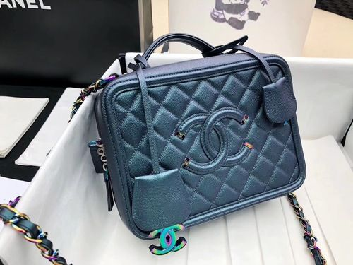 9f004b9d6037 CHANEL Large Vanity Case Iridescent Metal 2018 #FW2018 #onlineshopping  #discountbag #designerbag #