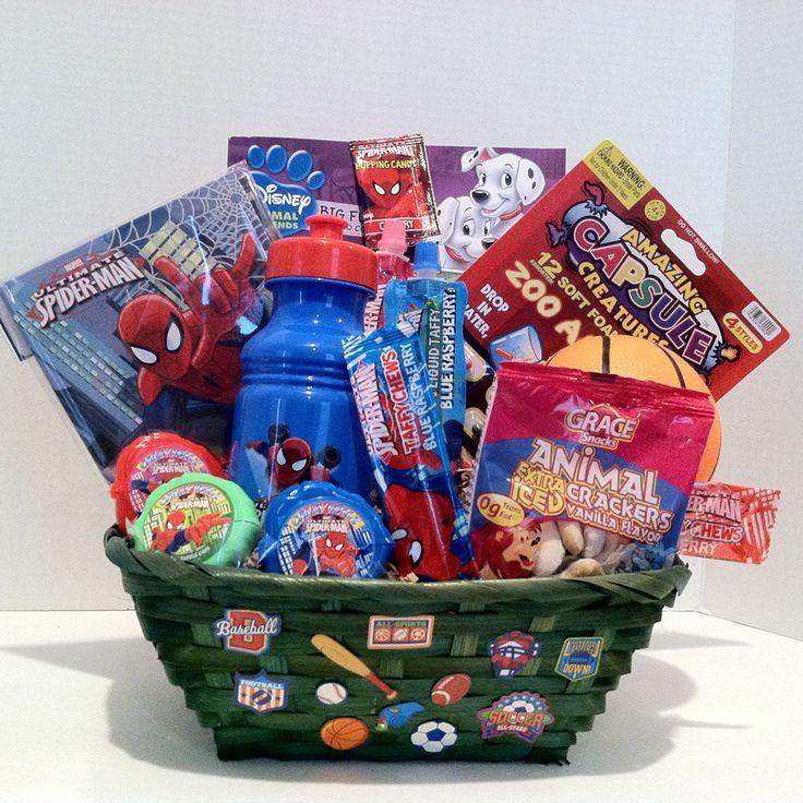 valentines day birthday spider man gift basket for a boy