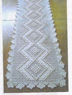 Nane Artesanato: Trilhos em crochê