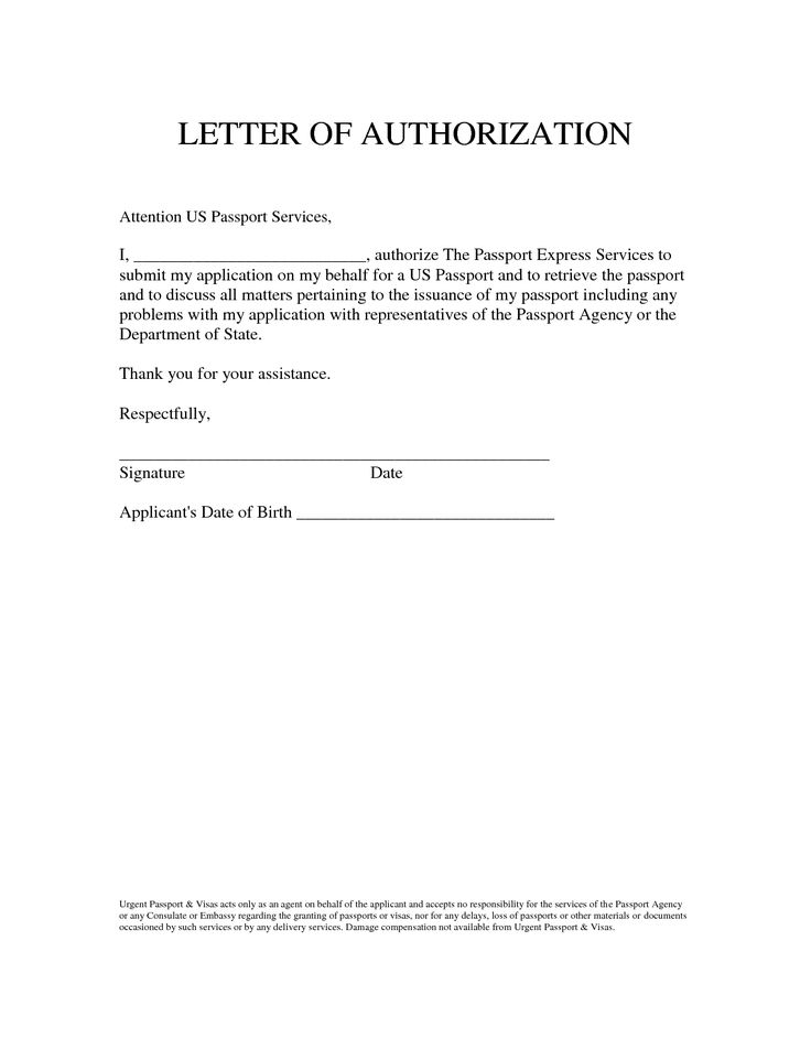 letter sample and authorization behalf sawyoo passport best examples