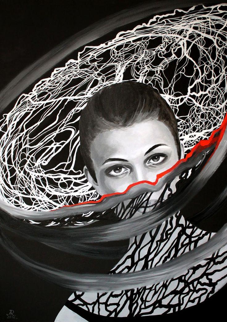 Anna Rączka ,,Carmen''olej na płótnie 100x70 cm