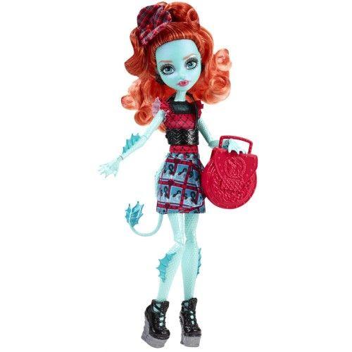 La Monster High, Lorna McNessie, fiica Monstrului din Loch Ness, face furori cu costumatia si obiceiurile ei. Poate cea mai admirata eleva din liceul Monster High , Lorna poarta o rochita cu imprimeul din orasul ei natal, carouri! Pantofii cu talpa inalta te lasa fara grai , iar gentuta si accesoriile se potrivesc perfect cu stilul ei!