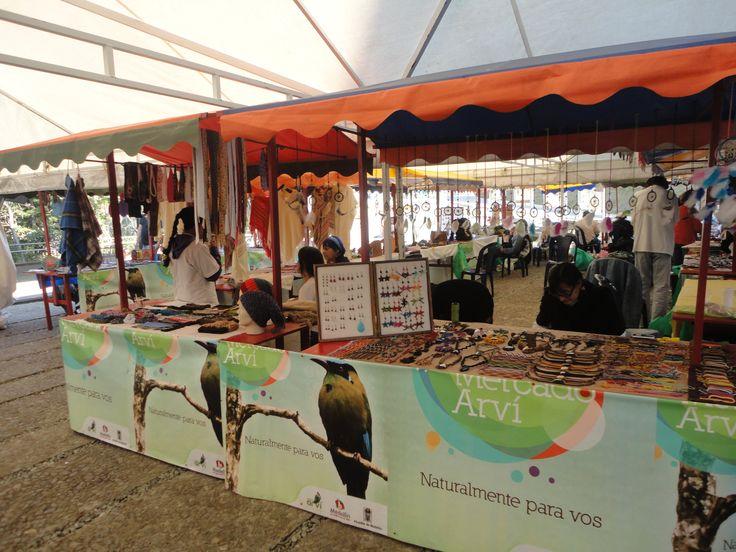 Mercado del parque Arvi.