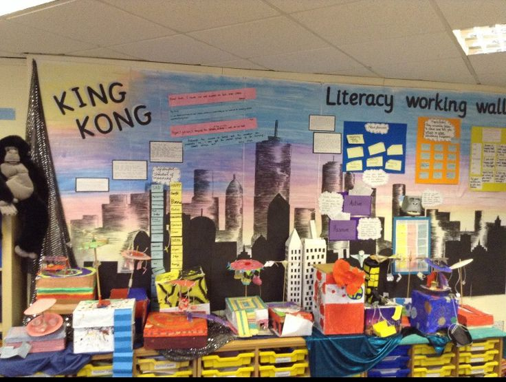 Christleton Primary School's display inspired by the fabulous Anthony Browne book.