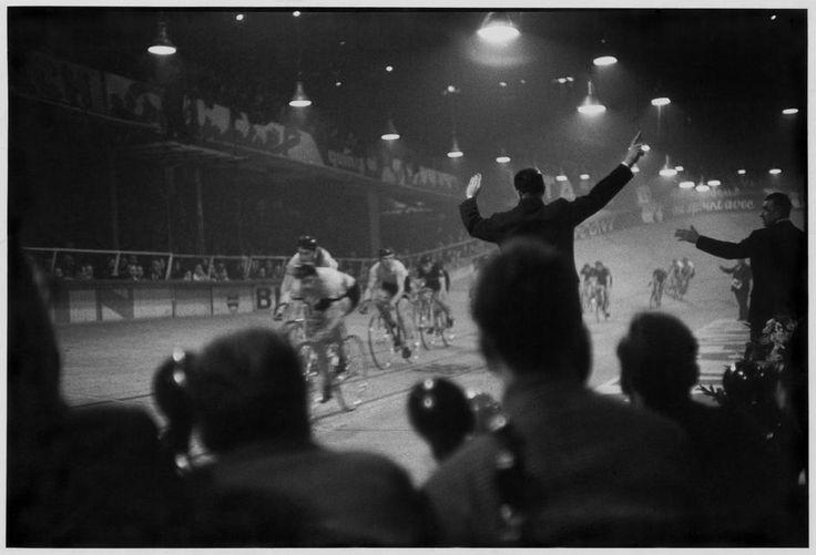 Velodrome d'Hiver, Paris, 1957.  Photo by Henri Cartier-Bresson