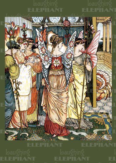 Babies Children's Classics Fairies Fairy Tales Illustrator: Walter Crane Nursery Rhymes Winged Creatures'