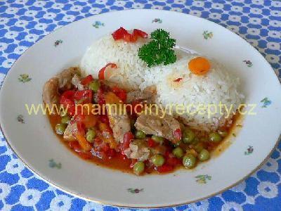 Vepřové maso v zelenině