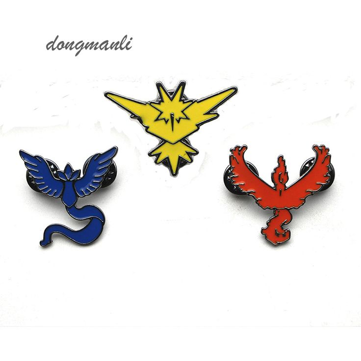>> Click to Buy << W4696 New Pocket Monster GO brooch Team Valor Instinct Mystic Logo Tag Metal pin for Women and Men fans Costume Jewelry #Affiliate