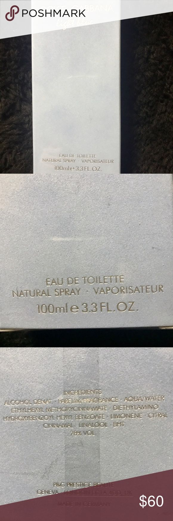 "Brand New Perfume by D&G""Light Blue"" Sealed 3.3 Oz Authentic Dolce&Gabbana Eau De Toilette Natural Spray-Vaporisateur for Women ""Light Blue"" 100ml /3.3 Oz Dolce & Gabbana Other"