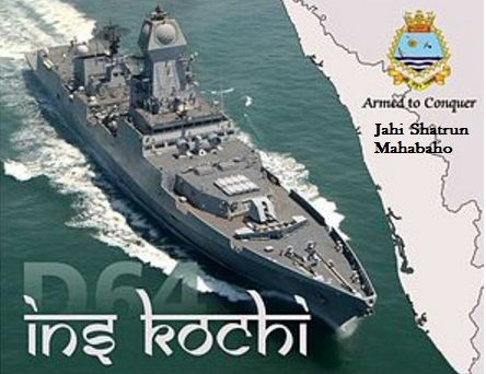 INS Kochi Kolkata-Class Indigenous Made Warship,Destroyer,Indian Navy