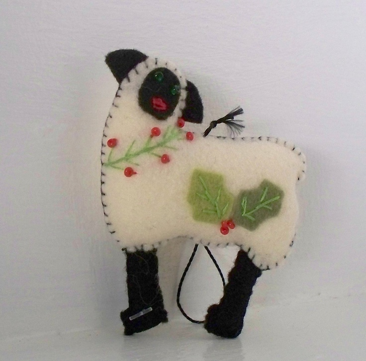 17 best images about christmas crafts part 1 bells baubles for Sheep christmas ornament craft