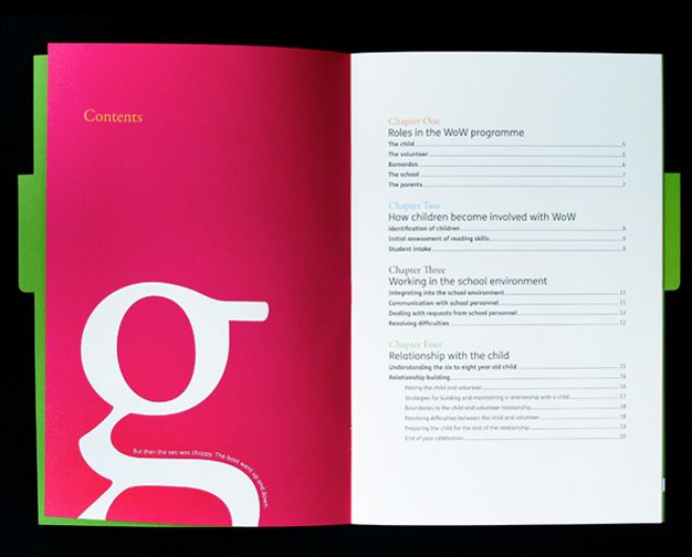 color blocking reverse type kb brochures design - Publication Design Ideas