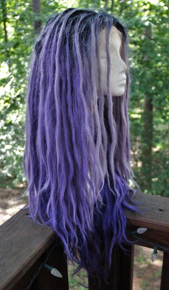 Hey, I found this really awesome Etsy listing at https://www.etsy.com/listing/471769721/lavender-and-purple-ombre-dreadlock-wig
