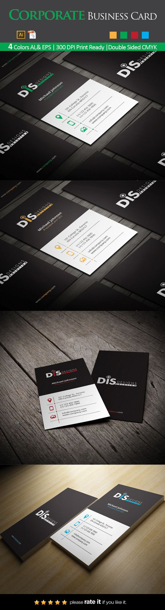 305 best business card templates images on pinterest business card business card 44 reheart Image collections