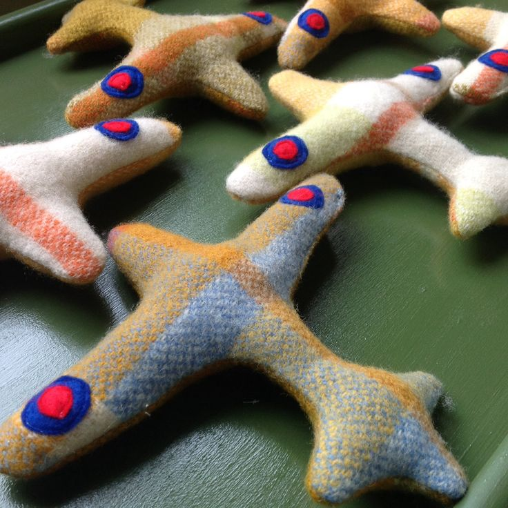 Airplane+Rattle+blanket+toy+upcycled+wool