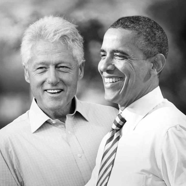 Presidents Bill Clinton and Barrack Obama
