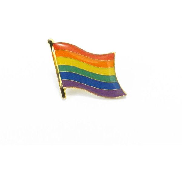 3a451dd24 Gay Pride Rainbow Pin, Enamel Pin, Rainbow Flag, Lapel Pin, Rainbow...  ($7.50) ❤ liked on Polyvore featuring jewelry, brooches, tie pin, 1980s  jewelry, ...