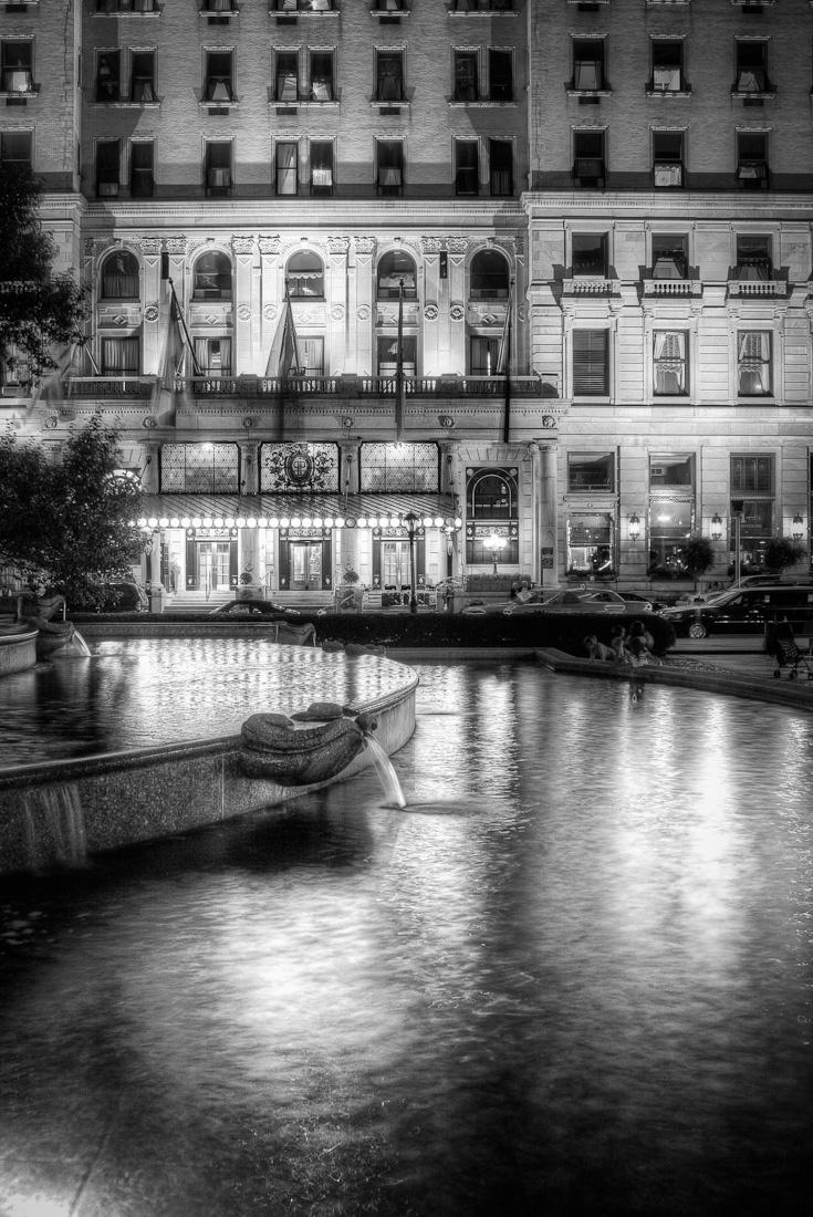 NYC. Plaza Hotel at night // Dave Beckerman