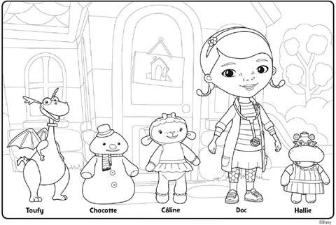Coloriage Dr La Peluche - Disney