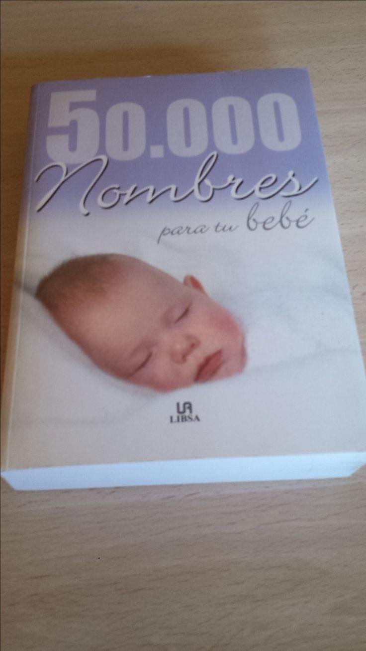 """Libro """"50000 nombres para tu bebé"""" Disponible en Ebay: http://www.ebay.es/itm/50-000-nombres-para-tu-bebe-no-de-bolsillo-/122063895947?hash=item1c6b933d8b:g:pVAAAOSwbsBXm41E"""