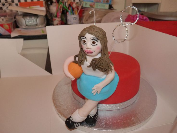 """18th birthday """"Netball"""" cake"""
