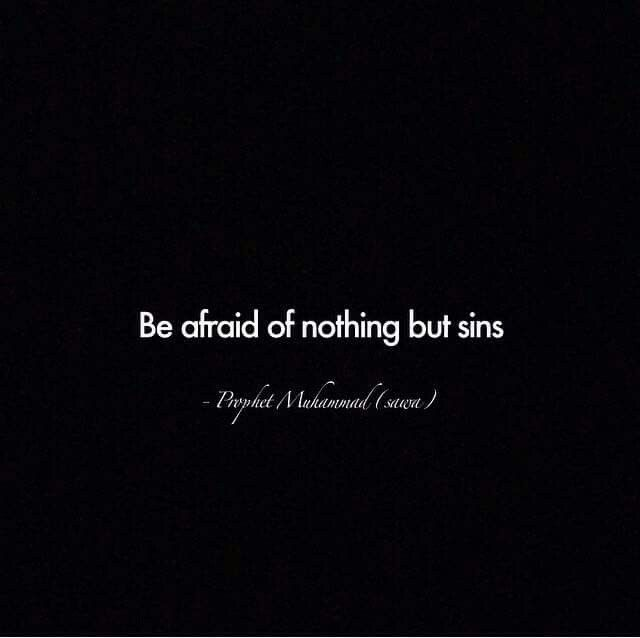 Prophet Muhammad [peace be upon him]. Be afraid...