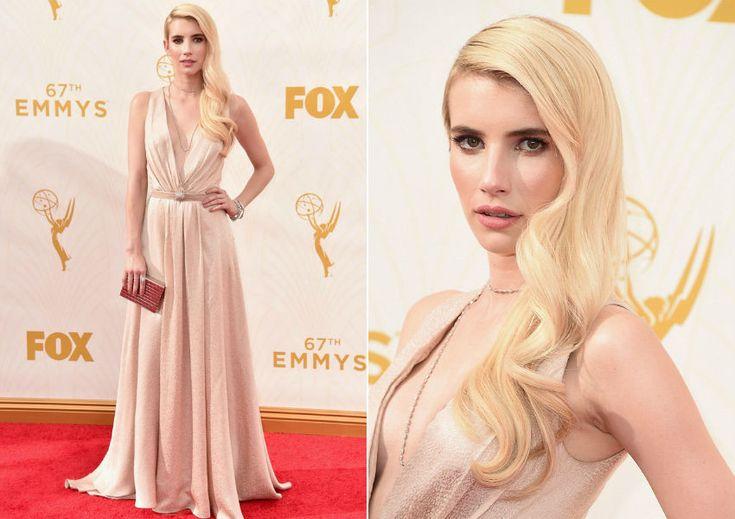 Inspiração: a beleza de Emma Roberts no Emmy 2015 - cabelo com ondas de diva!