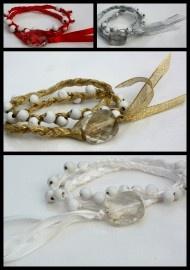 lint met witte kralen