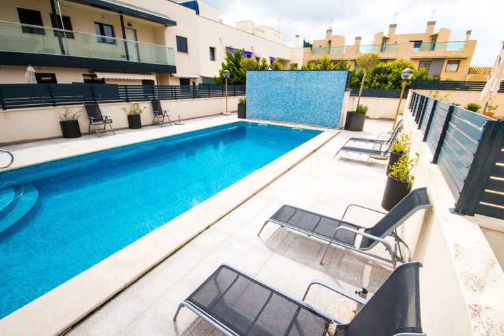 Portixol/ Es Molinar, Palma de Mallorca: Modern taklägenhet med takterrass, pool och parkering i Molinar