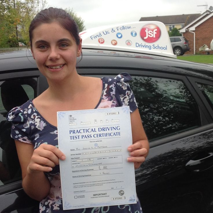 """""""A huge thank you to JSF Pete for getting me through the theory and driving test first time with no nerves! He taught me to believe in myself. Thanks for being extremely patient with me whilst I learnt the reversing manoeuvres, something that didn't come naturally to me. I can now drive my car by myself, a great relief... thank you so very very much!"""" Great job done with a brilliant #FirstTimePass for Jess Matthews from #Lydney who passed at #Gloucester test centre today, 27th October, 2014."""