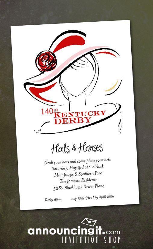 Dress Derby Kentucky Derby Party Invitations