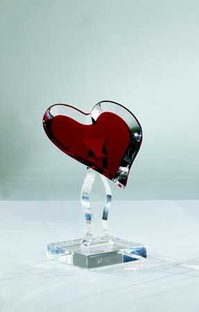 LOVING HEART By Shahrooz Shahrooz Art.com   #AcrylicFurniture,  #LuciteFurniture ACRYLICORE