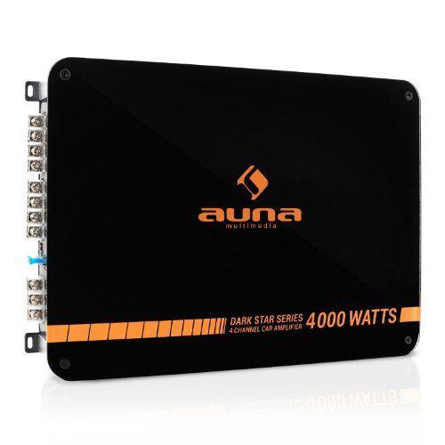 RMS de potencia • Filtro de paso de bajo regulable y filtro de cruce ajustable • Puenteable a 4/3/2 canales • Caja con cubierta negra acrílica y retroiluminación por LED   Datos técnicos: • Conexiones: 2 x entradas estéreo de audio RCA, juego de terminales de altavoz• Rango de frecuencia: 50 Hz ... http://altavocespara.com/coche/auna/auna-dark-star-4000-amplificador-para-coche-de-4-canales-400-w-rms-4-000-w-de-potencia-chasis-metalico-carcasa-de-acrilico-negro