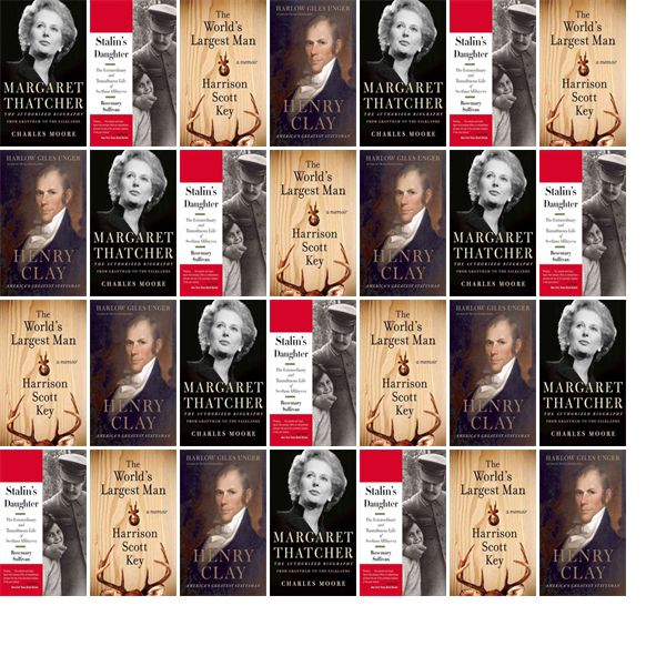 "Wednesday, February 3, 2016: The Charleston Library Society has four new books in the Biographies & Memoirs section.   The new titles this week include ""Margaret Thatcher: From Grantham to the Falklands,"" ""Stalin's Daughter: The Extraordinary and Tumultuous Life of Svetlana Alliluyeva,"" and ""The World's Largest Man: A Memoir."""