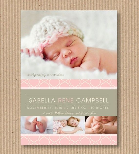 75 best Birth announcements images – High End Birth Announcements