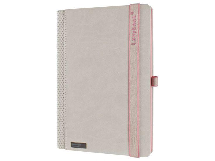 Zápisník v jednoduchém elegantním stylu s hladkým matným povrchem a dvoubarevným elastickým zavíráním Lanyband.