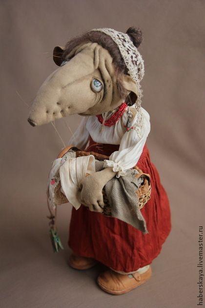 Крыса Матильда текстильная - хаберская татьяна,ручная работа,авторская работа