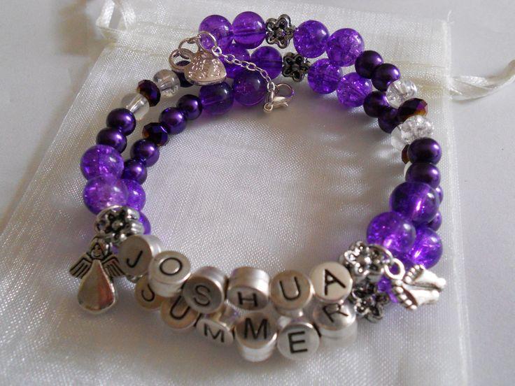 Purple Angel baby bracelet