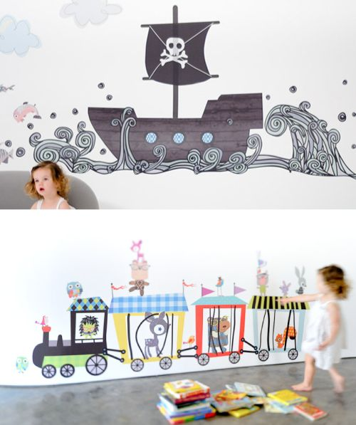 Pirate Wall Sticker.  Look at the waves!     Pop and Lolli « Babyccino Kids: Daily tips, Children's products, Craft ideas, Recipes & More