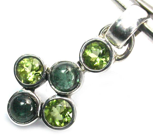 GEMSTONES PENDANT DIRECT FROM FACTORY SILVER 9.00CTS SJ1190  COLOURFUL GEMSTONE PENDANT  This is a colourful pendant set in silver and ready to wear.  The pendant is set with Peridot,Tourmaline  The quality of the workmanship is excellent.  Silver Stamped 925