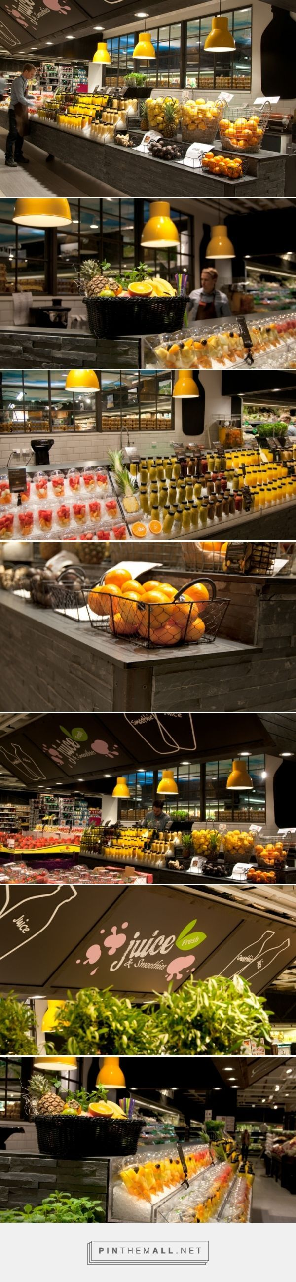 ICA Liljeholmen – Juice & Smoothie Bar by IDEI Concepts AB, Stockholm – Sweden » Retail Design Blog... - a grouped images picture - Pin Them All
