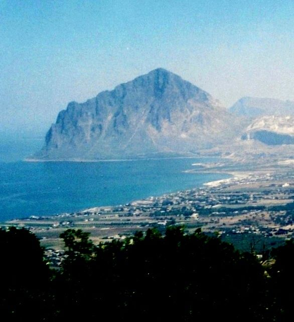 View from Erice where Aeneas came ashore to bury his father