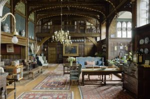 The Great Parlour, looking towards the minstrels' gallery, at Wightwick Manor, Wolverhampton, West Midlands