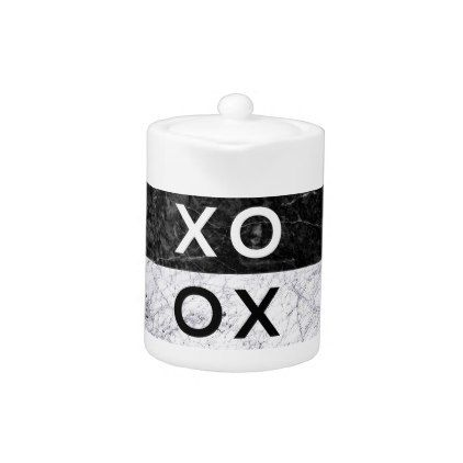 XO XO TEAPOT - minimal gifts style template diy unique personalize design