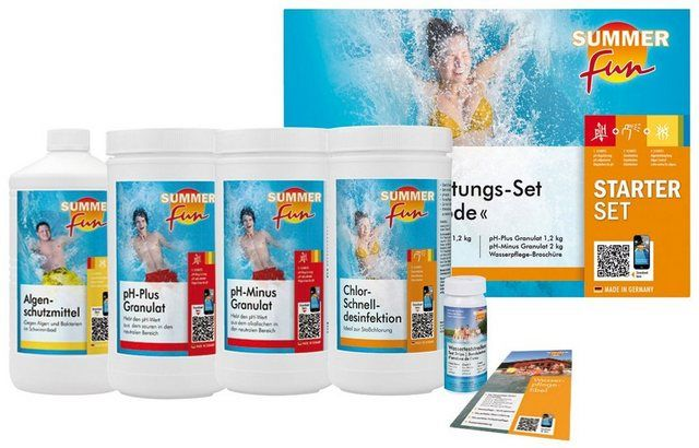 Wasserpflegeset Starterset Chlor Maxipack 6 Tlg