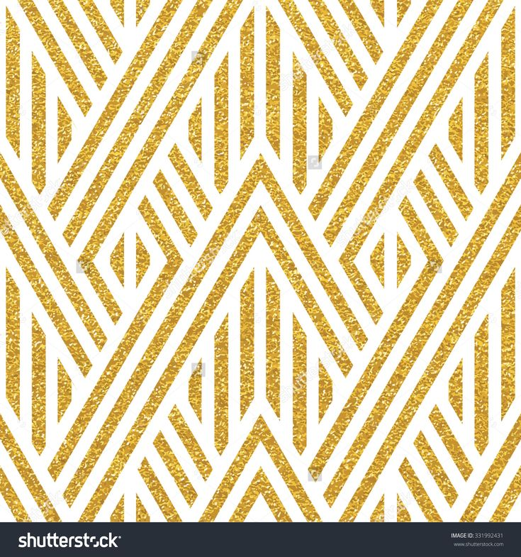 Geometric Striped Ornament Vector Gold Seamless Patterns