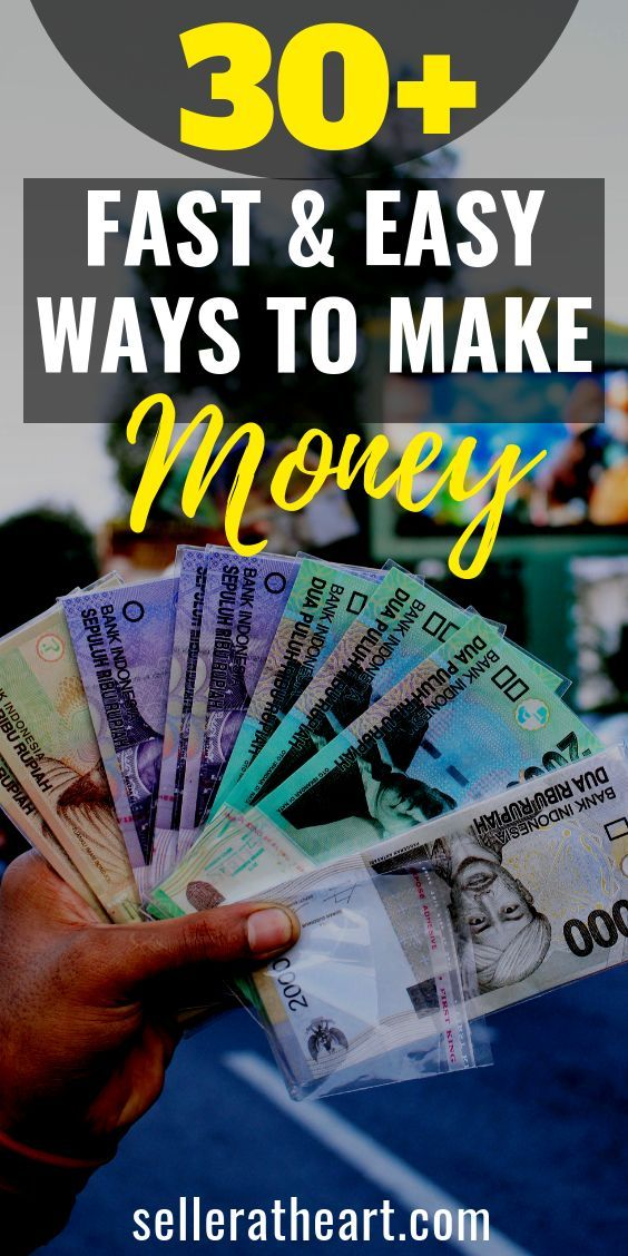 30 Ways to Make Money Fast and Easy | Work from home jobs