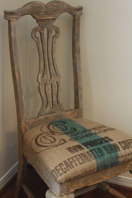 silla con tela de saco