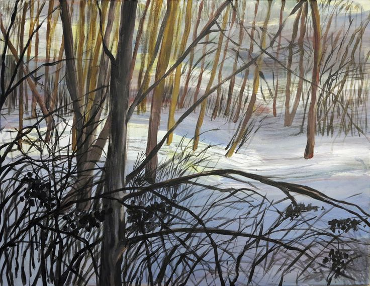 Snow in March by S. Tarnanen, 2015. Acrylics on canvas.