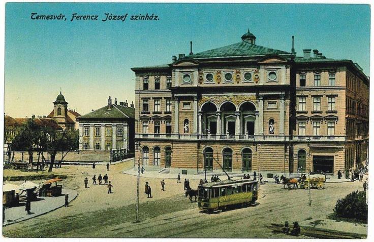 Timisoara - cladirea Teatrului National 1913